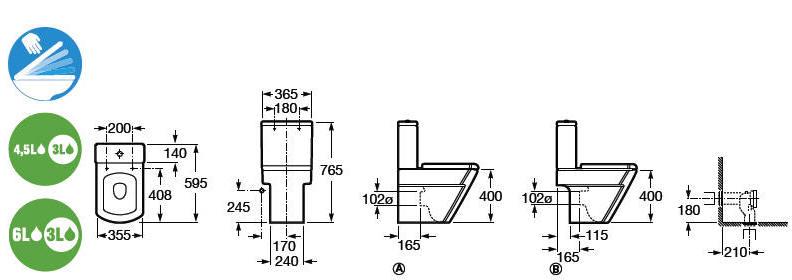 Hallcompacto for Inodoro meridian compacto